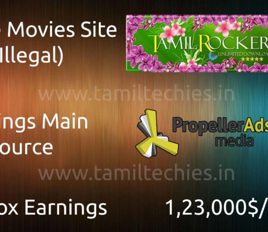 Tamilrockers Earnings