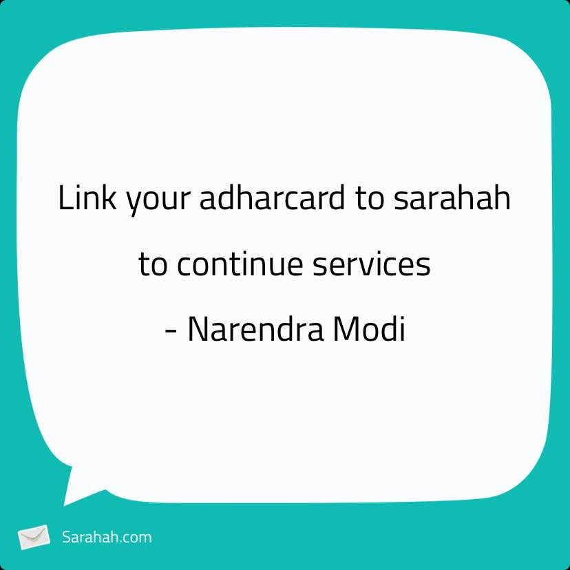how to send message on sarahah website